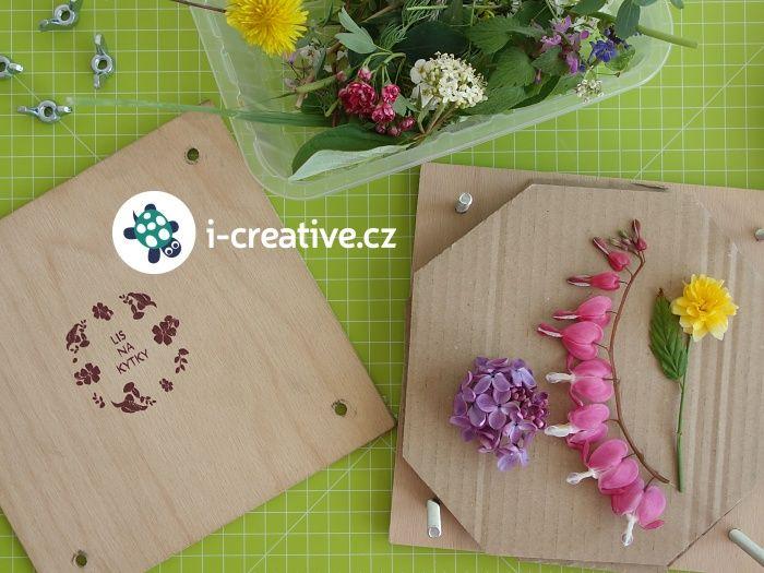 Lisování květin na tvoření pomocí ručního lisu
