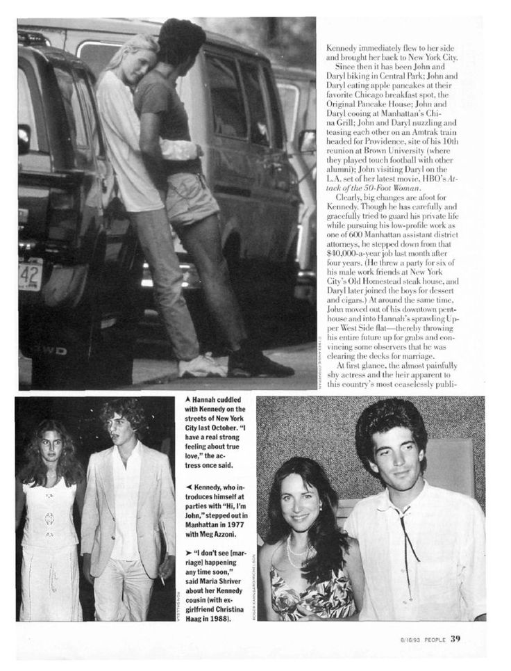 jfk jr and christina haag | From PEOPLE Magazine Click to enlarge