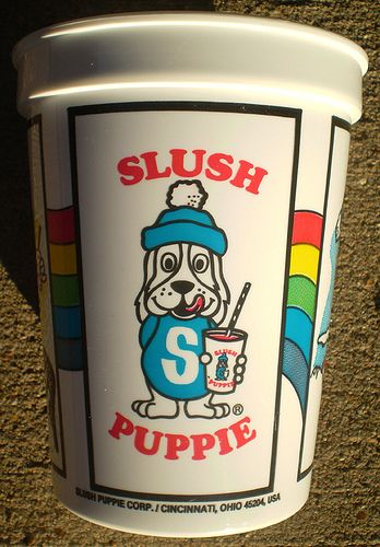 Slush Puppie - my favourite flavour was strawberry! My dad took us swimming on Sundays and bought us these afterwards :-)