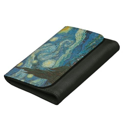 Starry Night Leather Wallet For Women