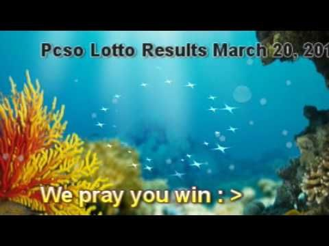 PCSO LOTTO RESULTS MARCH 20, 2017 Winning Numbers - http://LIFEWAYSVILLAGE.COM/lottery-lotto/pcso-lotto-results-march-20-2017-winning-numbers/
