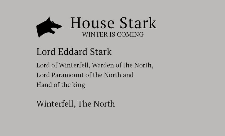 Game Of thrones business cards 3