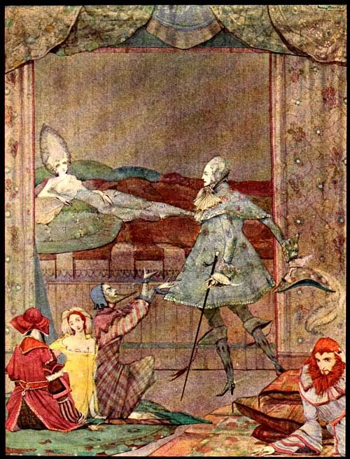 """""""He saw, upon a bed, the finest sight was ever beheld""""  Charles Perrault fairytale illustrated by Harry Clarke"""