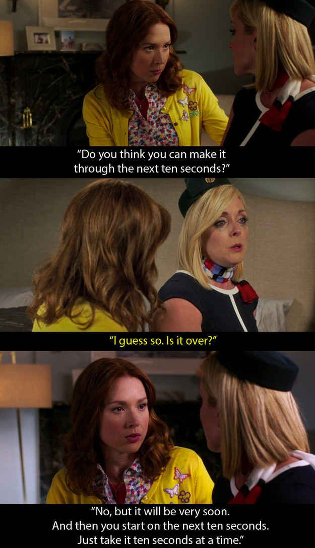 Unbreakable Kimmy Schmidt: When Jacqueline bursts into tears and Kimmy tries to console her.
