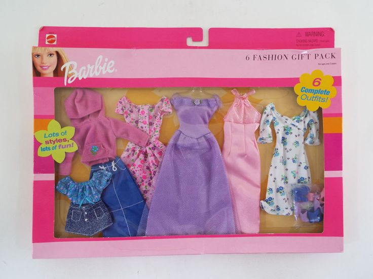 Barbie Doll Clothes & Shoes 6 Fashion Gift Pack Outfits Clothing Lot New #Mattel
