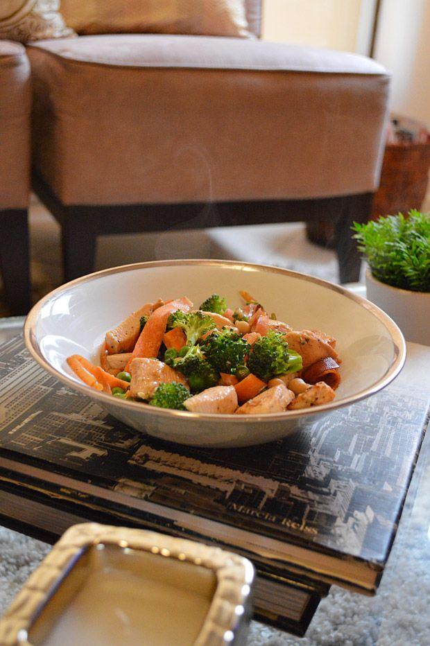 Cozinha Tosca de Marina: Frango Agridoce Picante com Mostarda e Legumes Cozidos Com Shoyu
