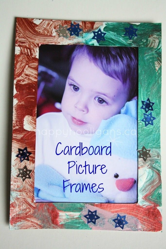 Cardboard picture frames sweet christmas gifts for for Holiday craft gifts for parents