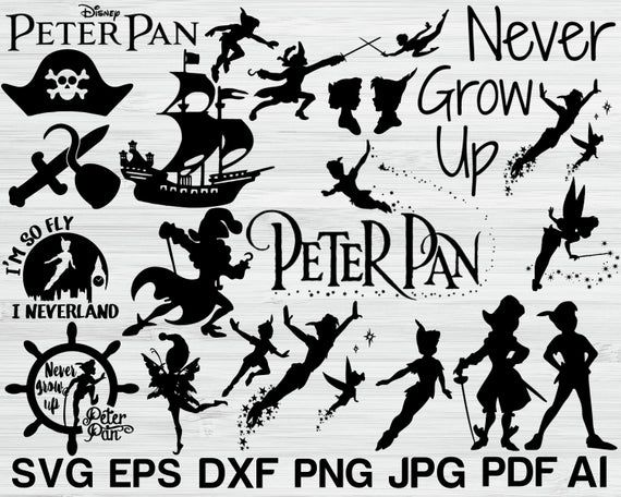 Star Cutouts Cut Out of Peter Pan