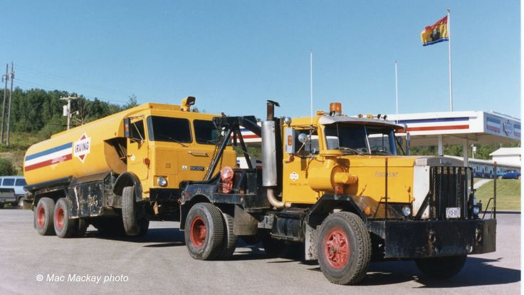 Semi Truck Oil : Irving oil was a big autocar user they used acars