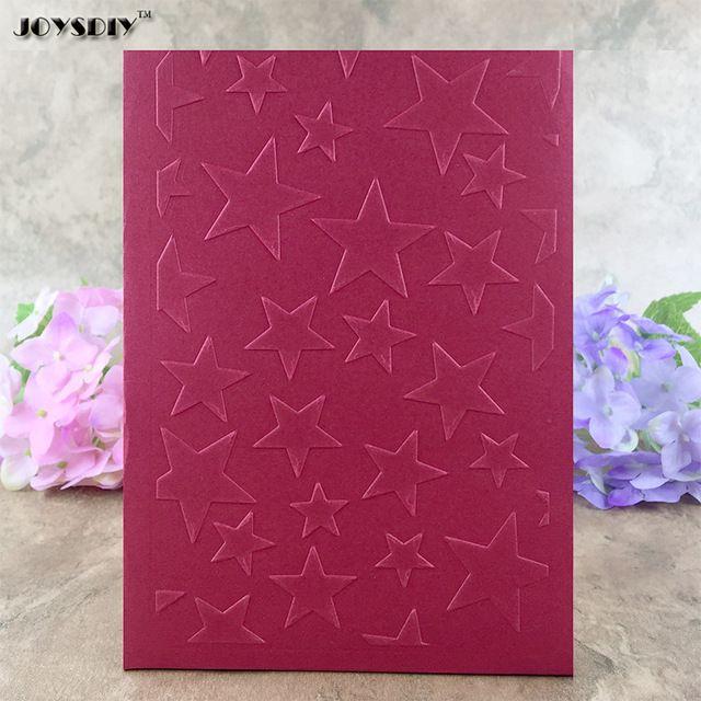 Różne Pięć Anioł Gwiazdy DIY Księga Gości Bump Plastikowe Narzędzie Plastikowe Szablon Karty Tłoczenie Tłoczenie Folder Dla Albumu 10.0*15.0 cm