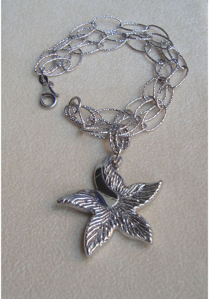 Bracciale donna in argento con catena a tre fili e charm stella GioielliVarlotta