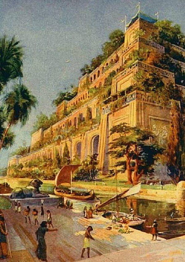 世界七不思議の一つ。バビロンの空中庭園