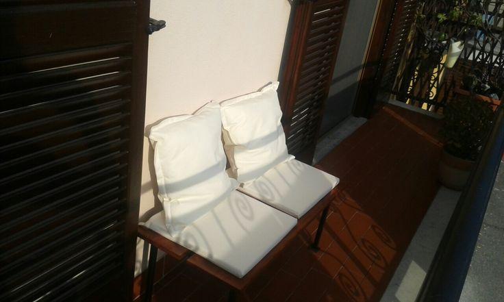 Panchina fai da te per balconcino