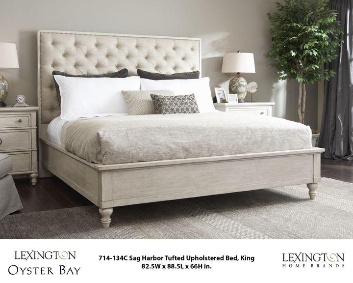 Sag harbor tufted upholstered bed lexington furniture - Lexington oyster bay bedroom furniture ...