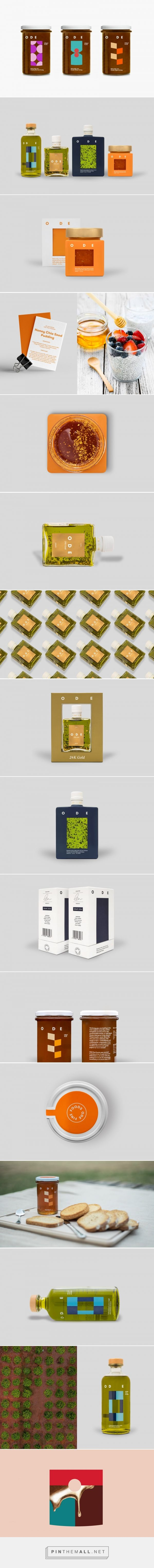ODE Fine Foods packaging design by AG Design - http://www.packagingoftheworld.com/2018/02/ode-fine-foods.html
