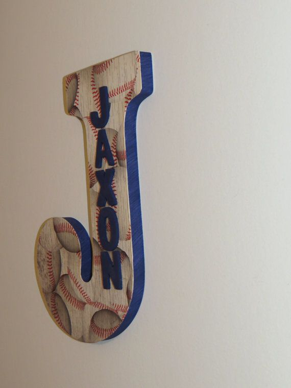 Baseball Custom Wall Letter Baseball letter by amandascreations05 $15