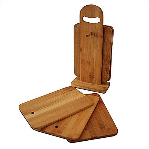 From 13.49 Breakfast Trays And Serving Boards Set Of 6 With Stand - Chopping Board Bamboo Set