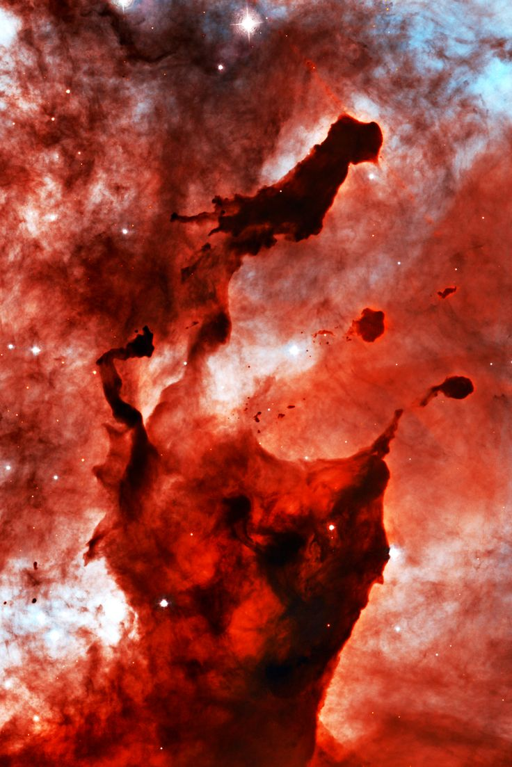 Gas and dust in the Eta Carinae Nebula.  We are so small in the grand scheme if things.
