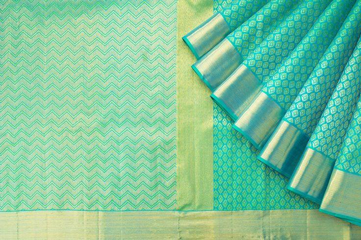 Kanakavalli Handwoven Kanjivaram Silk Sari 1016576 - Sari / Kanjivarams - Parisera
