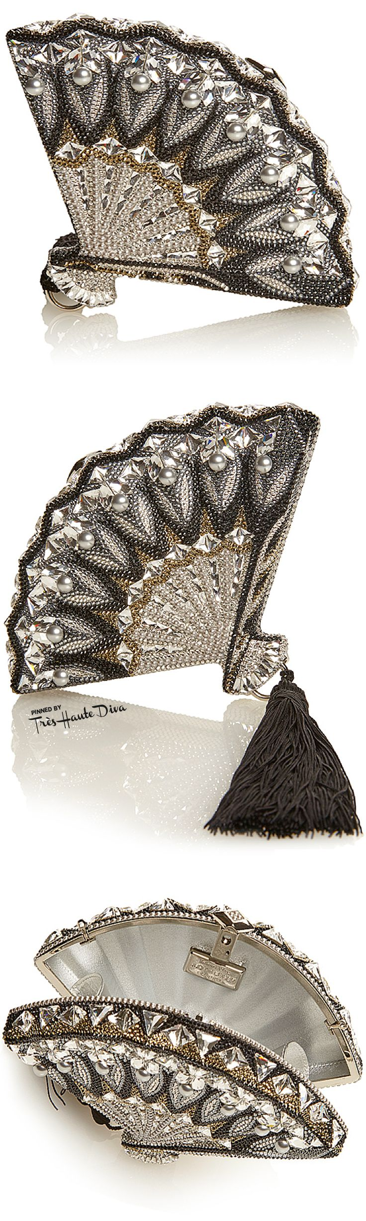 Judith Leiber Fall 2015 Collection ♔ Fan Interlude Clutch— Très Haute Diva