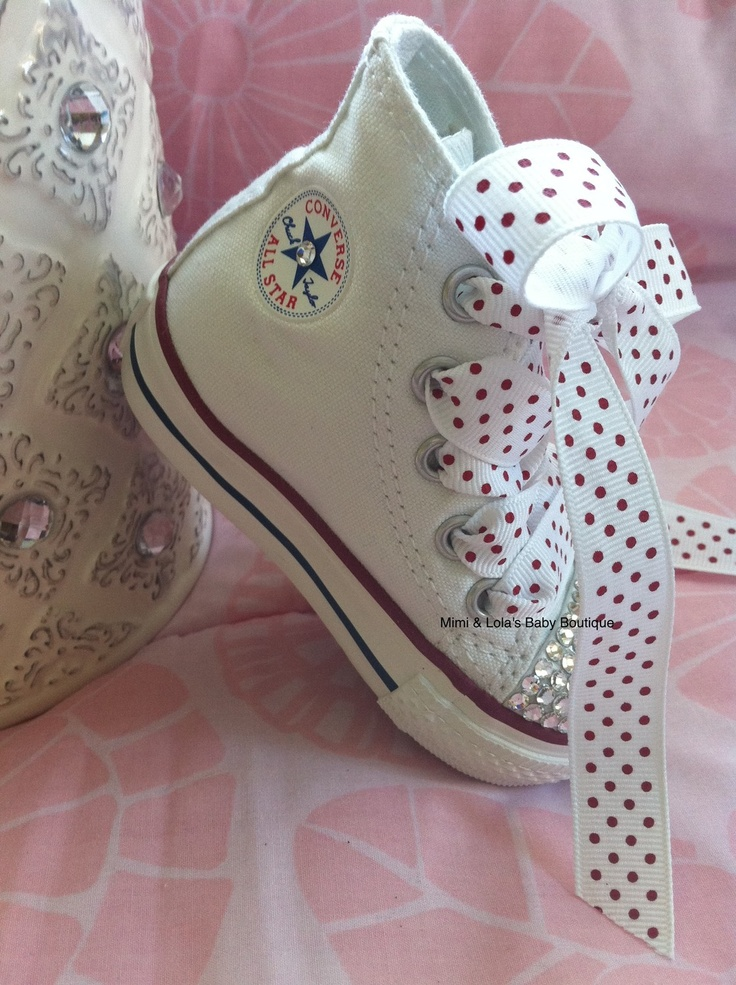 WHITE BLING CONVERSE