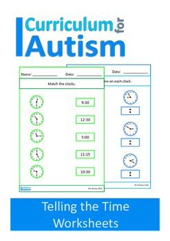 Telling the time worksheets set containing 40 worksheets.This set contains:- 10 worksheets for the students to match the analogue clocks to the digital clocks- 10 worksheets for the students to write the digital times for each analogue clock- 10 worksheets for the students to match the analogue clocks to the words- 10 worksheets for the students to match the digital clocks to the wordsThis is also available as part of myTelling the Time BundleYou may also like:Analogue to Digital Clocks…