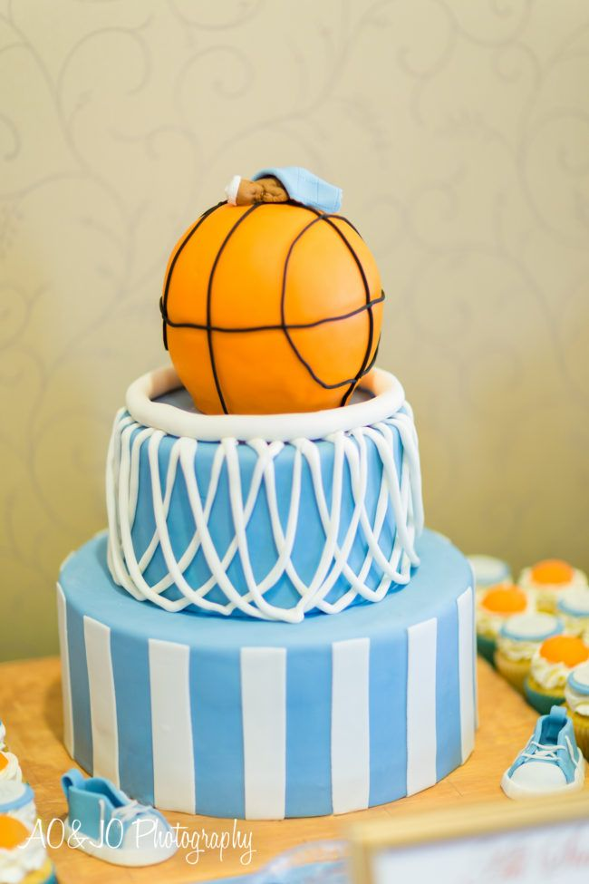 Delightful Basketball Baby Shower Cake