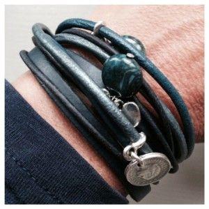 Wikkelarmband donkerblauw