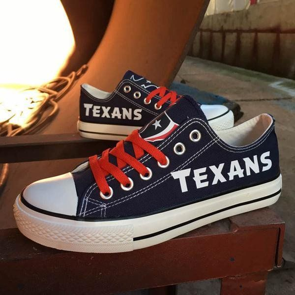 Custom Printed Low Top Canvas Shoes - Houston Texans