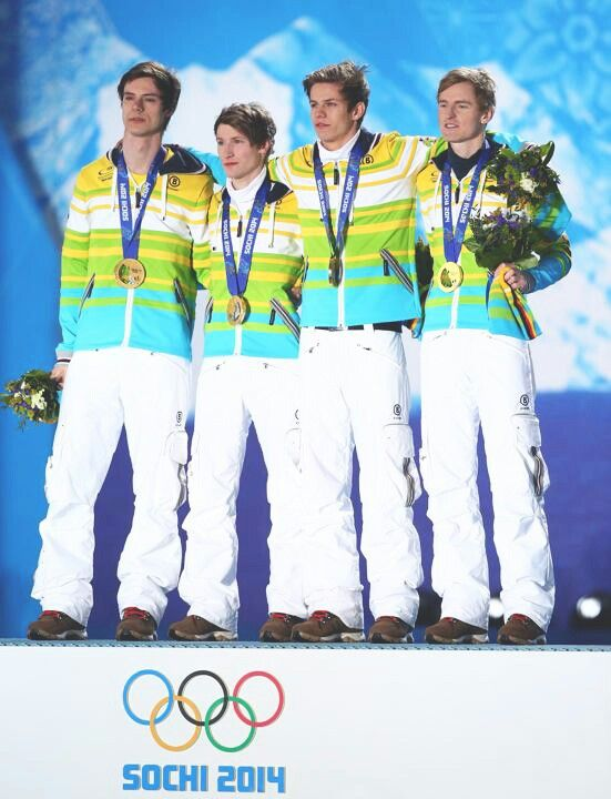 German Team with gold