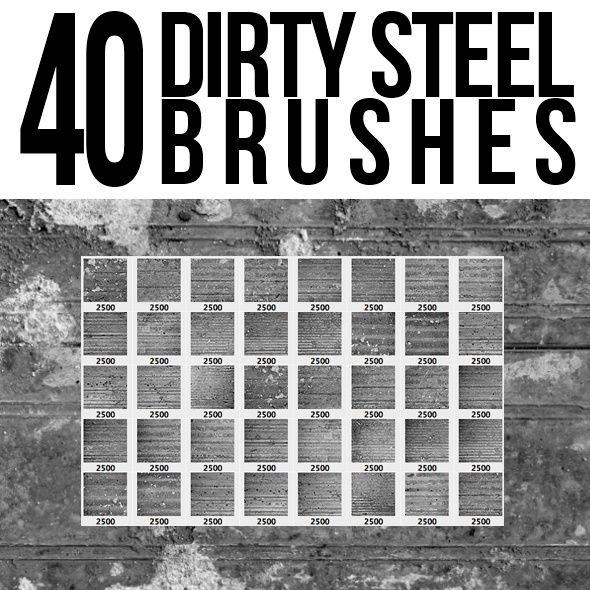 40 Dirty Steel Photoshop Brushes