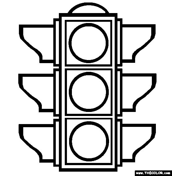 The Traffic Light Coloring Page | Free The Traffic Light Online Coloring