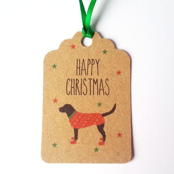Dog Christmas Gift Tags 5 Pack-Black Labrador gift by JayneyMac