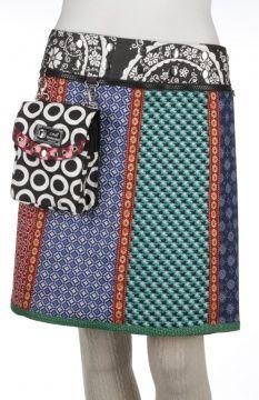 Iris long wrapskirt with pouchbag #FairlyTraded #Skirt #OneSize
