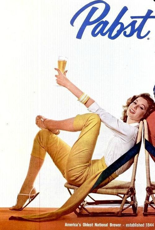 Ciao Bellissima - Vintage'licious; Suzy Parker for Pabst Blue Ribbon, 1957