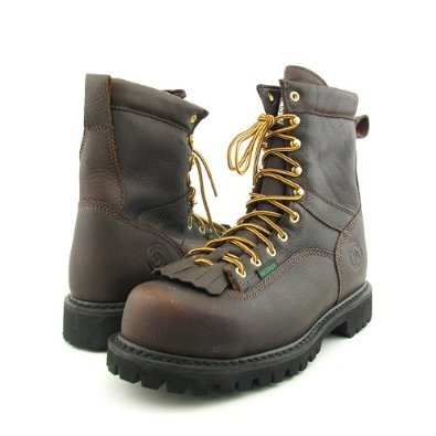 Amazon.com: Georgia Logger Boots Work Steel Toe Shoes Brown Mens: Shoes