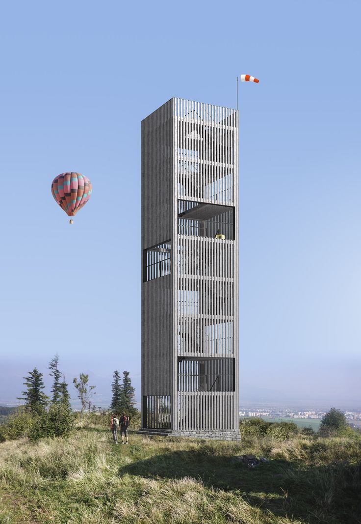 Wooden observation tower near Poprad, Slovakia by #henkaiarchitekti https://www.facebook.com/HenkaiArchitekti/ #observationtower #tower #slovakiamountains #poprad #hightatras #tower #architecture #henkaiarchitekti