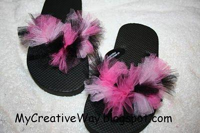 My Creative Way: DIY Monday: Flip Flop Puffs