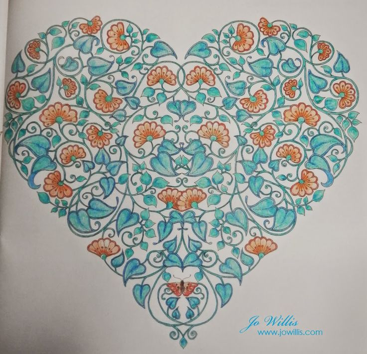 Here I Go Again Second Colouring Finished Coracao Mandala