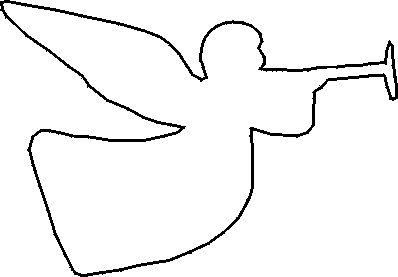 Free Christmas Stencils: Free Christmas Stencil: Angel