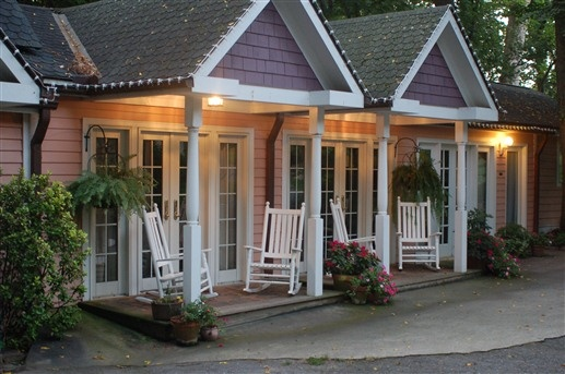 Beaufort House Inn in Asheville, NC has three private cottages that feature private front and rear porches