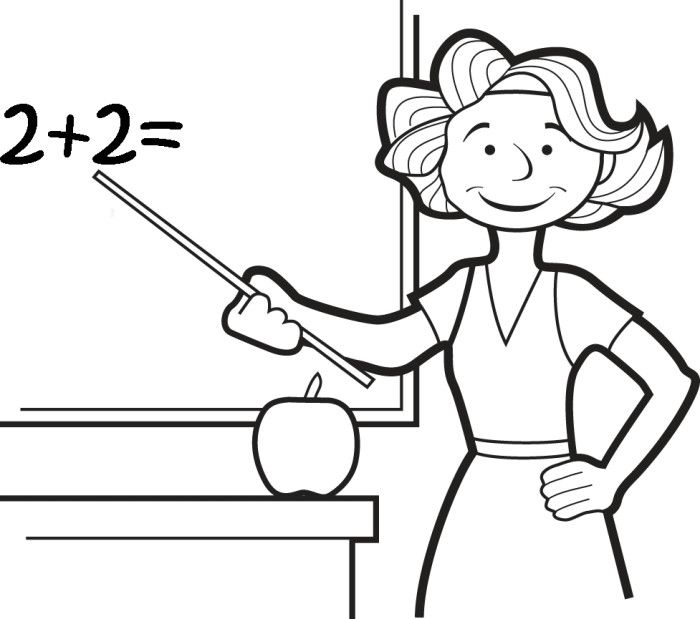 coloring pages of a teacher - photo#15