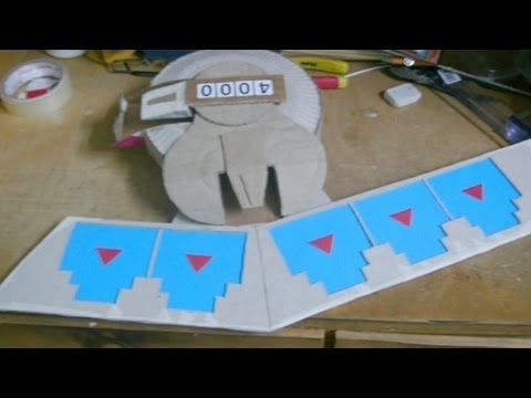 how to make a yugioh duel disk mostly from cardboard