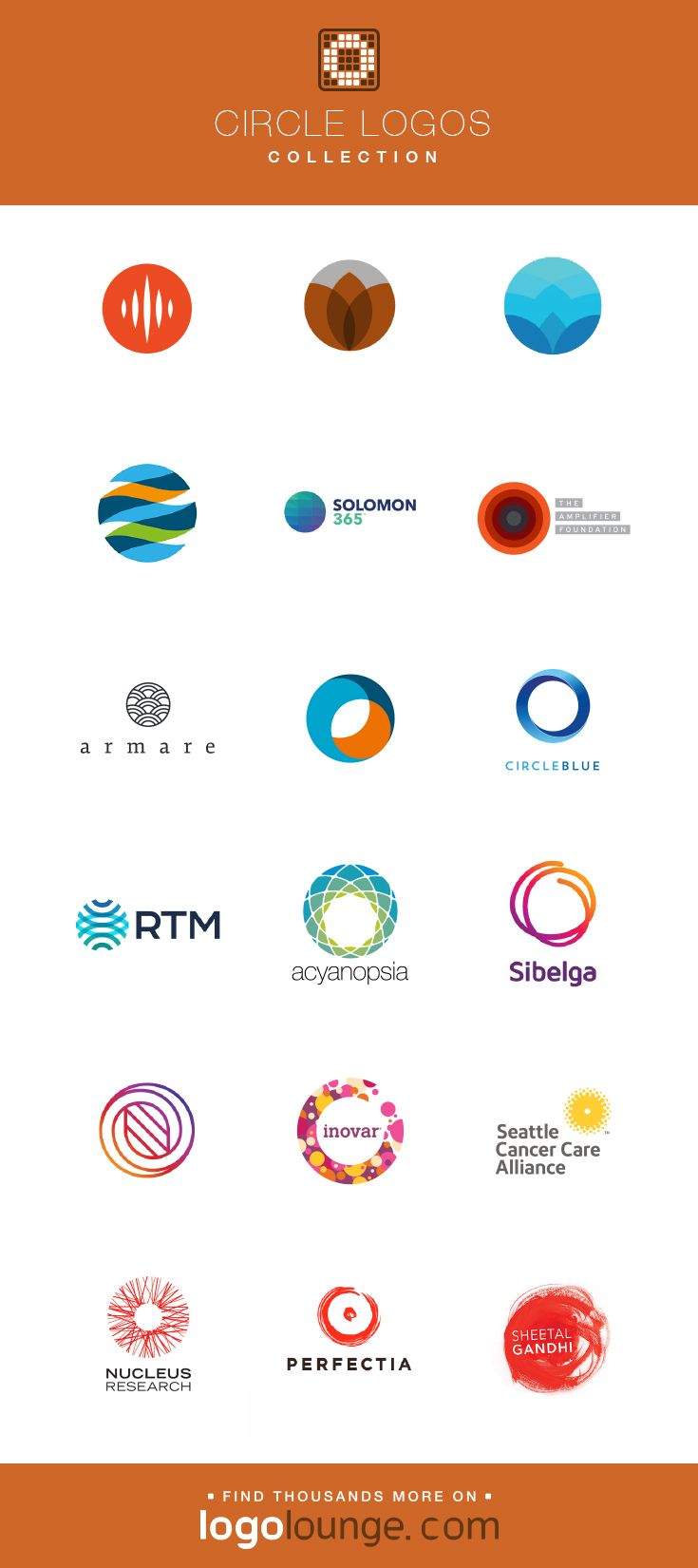 Logo Collection Circle Vector Logo Designs Geometric Shapes