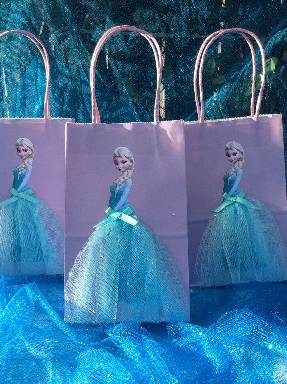 Gefrorene Elsa Birthday Party gefallen Taschen  6 Taschen