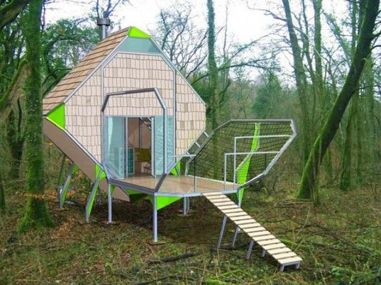 Matali Crasset Creates Living Pods for Modern Artists in the Forests of France