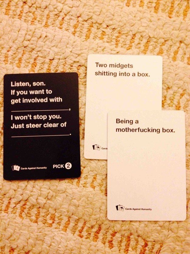 Words to live by. A bunch of funny cards against humanity cards.