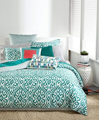 Bar III Tali Bedding Collection love this pop of color