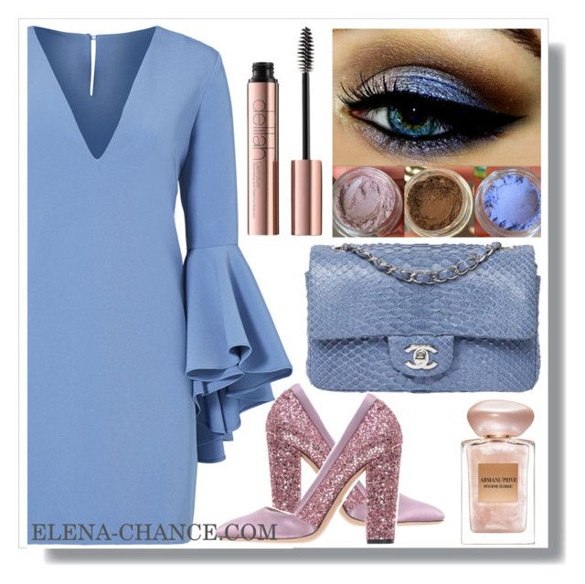 """Special time розово- голубой"" by design-lenasidneva ❤ liked on Polyvore featuring Marc Jacobs, Chanel, Milly, Giambattista Valli and Giorgio Armani"