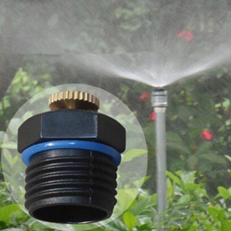 12 inch adjustable brass spray nozzle garden irrigation